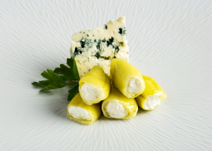 GREEN PEPPER <br>STUFFED BLUE CHEESE